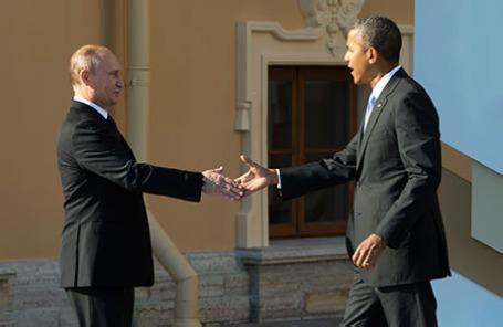 Президент России Владимир Путин (слева) и президент США Барак Обама.