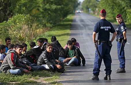 Афганские беженцы в Венгрии.