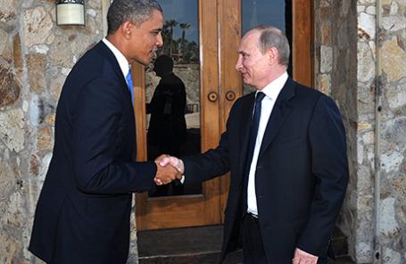 Президент США Барак Обама и президент России Владимир Путин.