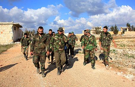 Солдаты сирийской армии.