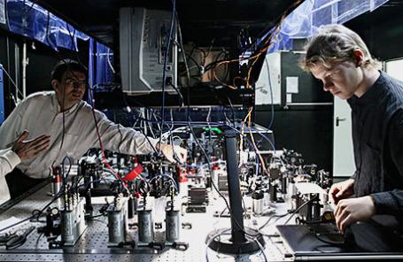 Лабораторный комплекс Российского квантового центра в Технопарке Сколково.