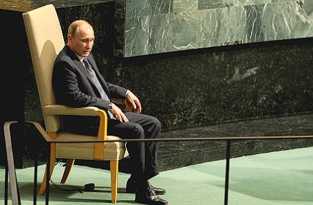 Выступление президента РФ Владимира Путина на 70-й сессии Генассамблеи ООН.