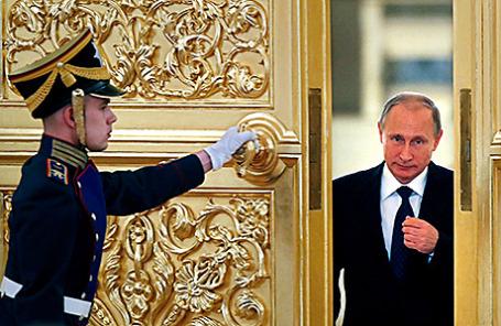 Президент России Владимир Путин перед заседанием Совета по правам человека в Кремле, 1 октября 2015.