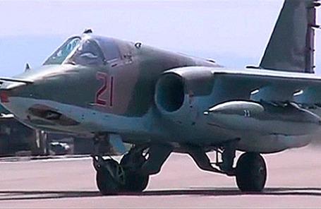 Российский истребитель на авиабазе «Хмеймим» в Сирии.