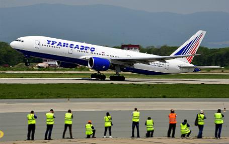 Самолет Boeing 777-200ER авиакомпании «Трансаэро».
