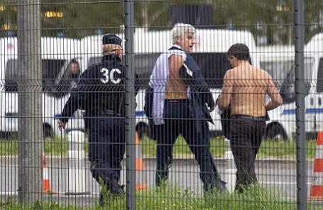 Ксавье Бросет и Пьер Плиссонье после нападения.