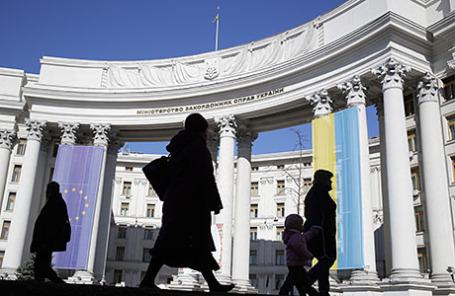 Здание министерства иностранных дел Украины.
