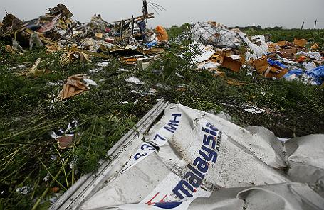 Обломки малайзийского «Боинга» под Донецком.