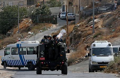 Столкновения палестинцев и израильских полицейских.