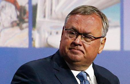 Глава ВТБ Андрей Костин.