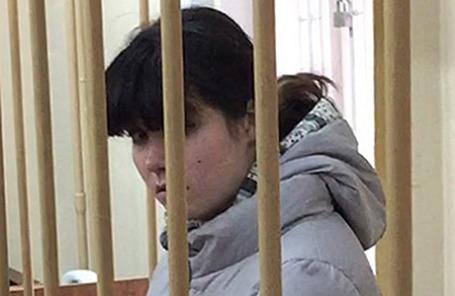 Студентка МГУ Варвара Караулова, подозреваемая в участии в террористической организации, в Лефортовском суде в Москве, 28 октября 2015.