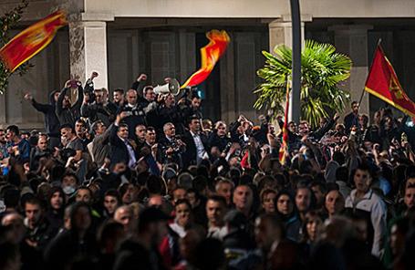 Протесты в Подгорице, Черногория.