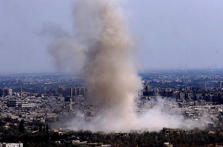 Военная операция в районе Хараста в Дамаске.