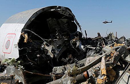Место крушения российского самолета Airbus A321 в Египте.