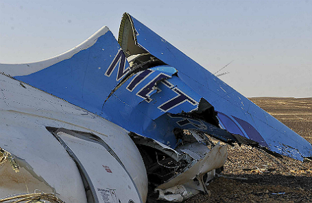 Останки российского самолета Airbus A321, потерпевшего крушение в Египте.