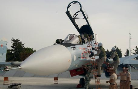 Российская авиационная группа на аэродроме «Хмеймим» в Сирии.