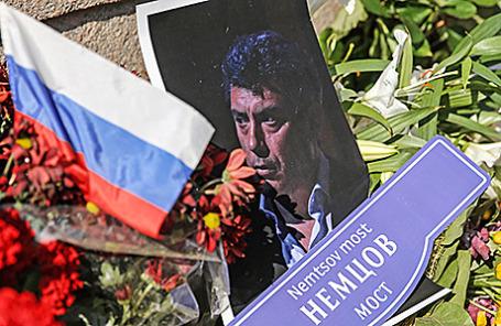 На месте убийства Бориса Немцова.