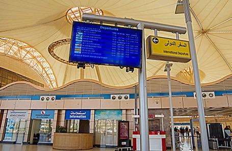 В аэропорту Шарм-эль-Шейха.