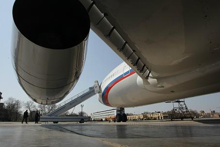 Пассажирский самолет Ил-96-300, переданный в состав президентского авиаотряда.