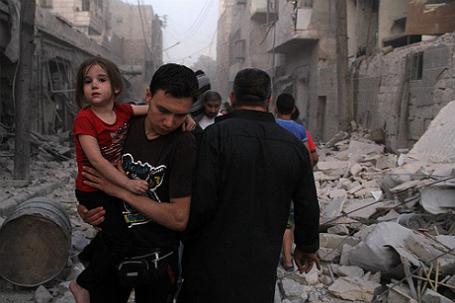 Ситуация в сирийском Алеппо.