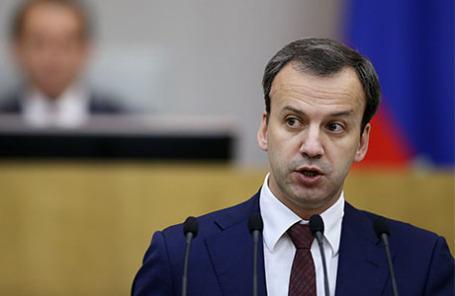 Вице-премьер РФ Аркадий Дворкович на пленарном заседании Государственной Думы РФ.