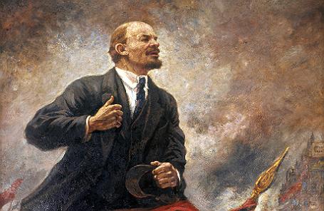 Картина Александра Герасимова «Ленин на трибуне».