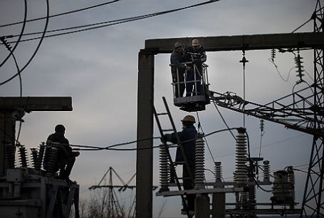 Электроподстанция. Украина.