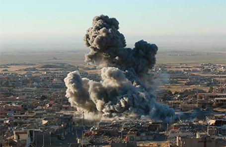 Взрыв в городе Синджаре.