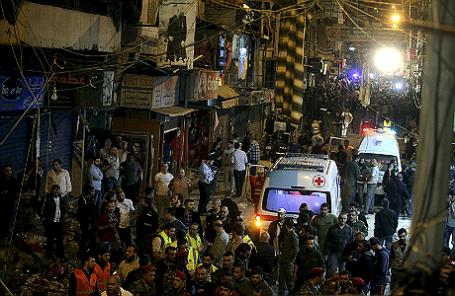 После теракта в пригороде Бейрута.