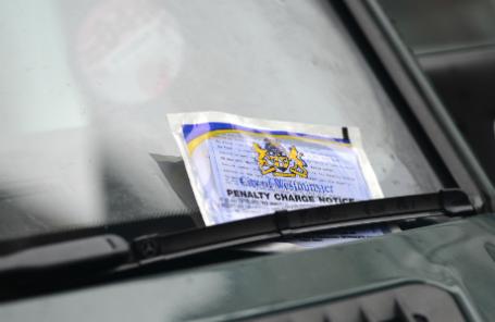 Уведомление о штрафе службы городского паркинга лондонского района Вестминстер.