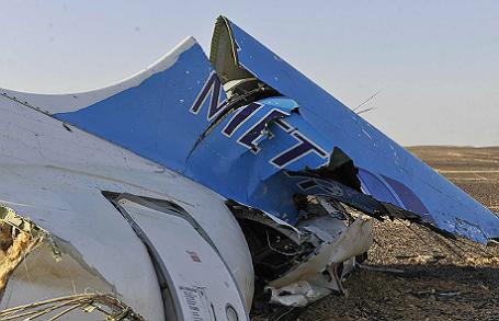 Место крушения российского самолета Airbus A321 на Синайском полуострове.