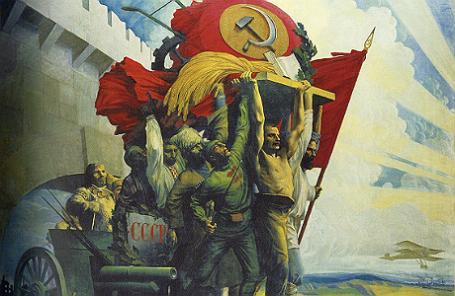 Картина Степана Карпова «Дружба народов».