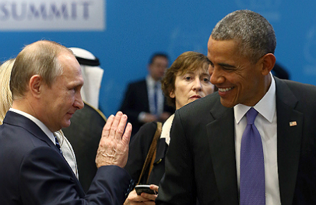 Президент РФ Владимир Путин и президент США Барак Обама.