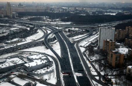 Участок платной дороги М-11 Москва — Санкт-Петербург недалеко от международного аэропорта «Шереметьево».