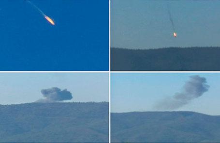Крушение российского бомбардировщика Су-24 над Сирией.