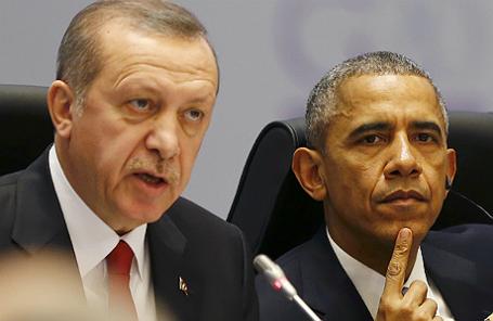 Президент Турции Реджеп Тайип Эрдоган и президент США Барак Обама.