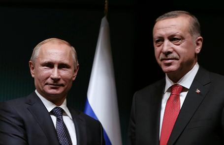 Президент РФ Владимир Путин и президент Турции Реджеп Тайип Эрдоган.