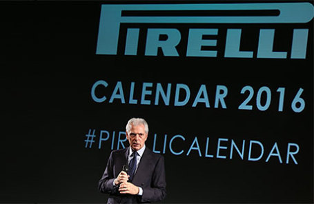 Презентация календаря Pirelli на 2016 год в Лондоне. На фото: Генеральный директор Pirelli Марко Трончетти.