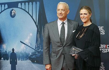 Том Хэнкс на премьере фильма «Шпионский мост» в Берлине.