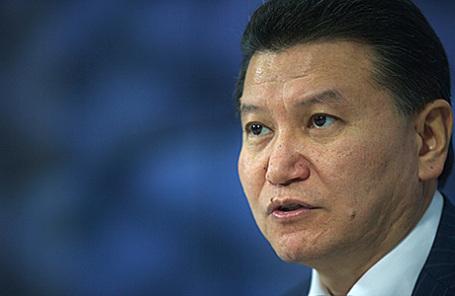 Президент Международной шахматной федерации (ФИДЕ) Кирсан Илюмжинов.