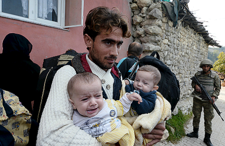 Сирийский беженец.