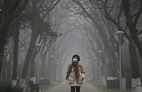 Смог в Пекине, Китай.