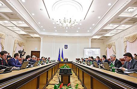 Заседание кабинета министров Украины в Киеве.