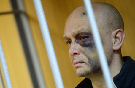 Адвокат Эдуард Буданцев, фигурант дела о перестрелке у кафе Elements на Рочдельской улице, перед рассмотрением ходатайства об аресте в Пресненском суде.