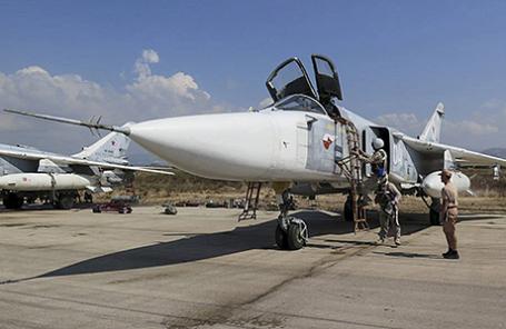 На российский авиабазе Хмеймим в Сирии.