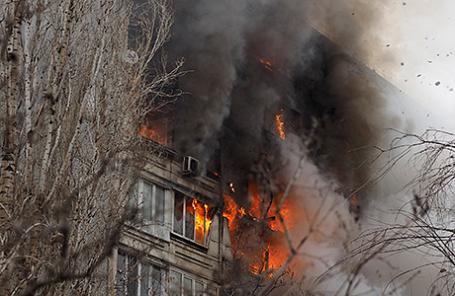 Взрыв бытового газа в многоэтажном жилом доме в Волгограде, 20 декабря 2015.