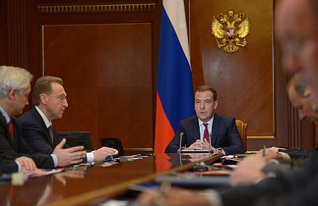 Заседание наблюдательного совета Внешэконобанка под председательством Дмитрия Медведева.