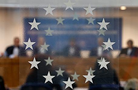 Заседание Европейского суда по правам человека в Страсбурге.
