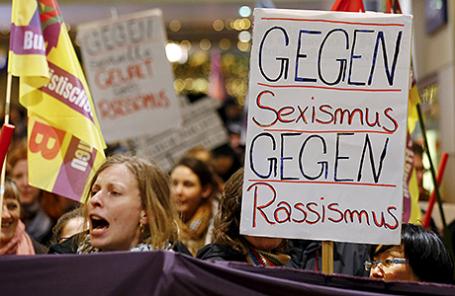 Протестная акция в Кельне, Германия, 5 января 2016.