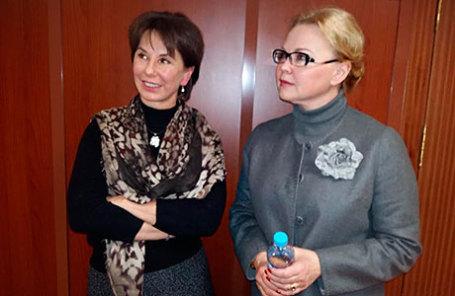 Наталия Потанина (слева) и ее пресс-секретарь Оксана Косаченко.